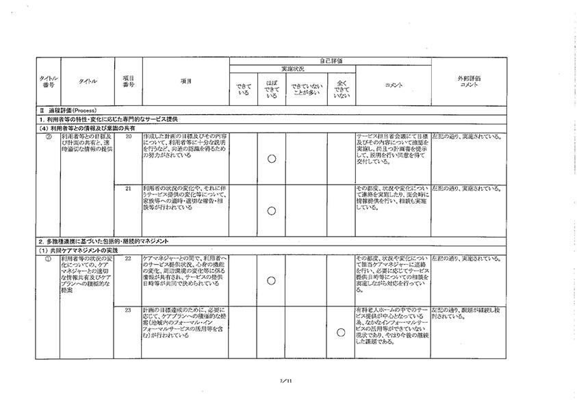 コンフォート樫の木・外部評価結果07