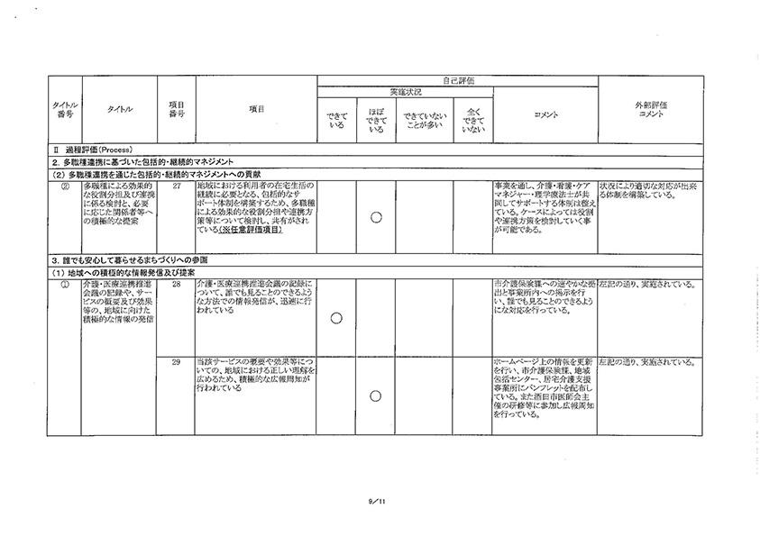 コンフォート樫の木・外部評価結果09